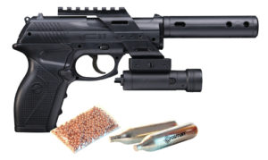 The most powerful CO2 pistol is the Crosman TACC11KT2 BB CO2 Pistol